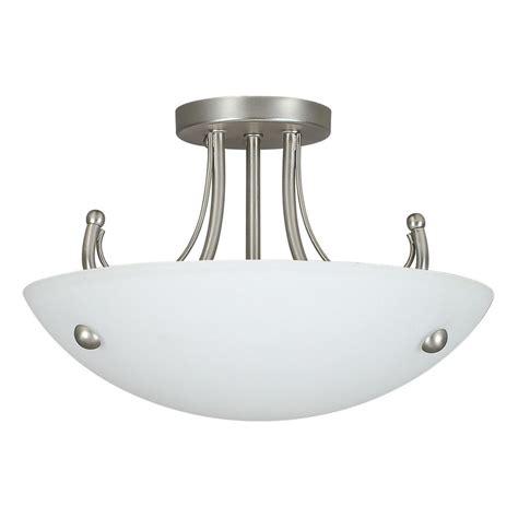 nickel semi flush ceiling lights fillament design atropolis 2 light ceiling satin nickel