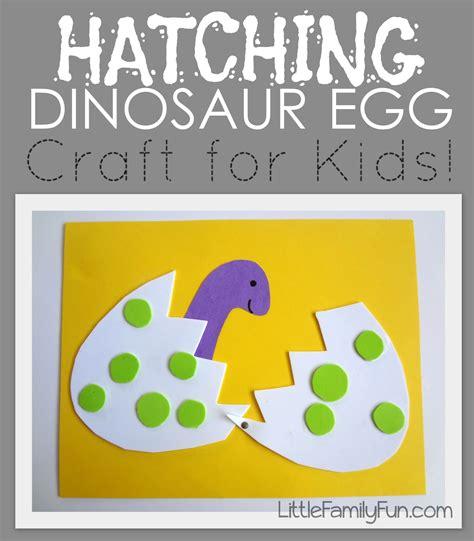 family hatching dinosaur egg craft 229 | 142