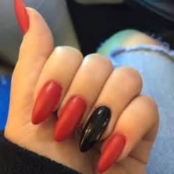 Black Red Acrylic Nail Designs