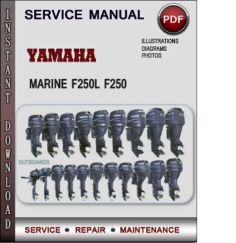 yamaha marine fl  factory service repair manual