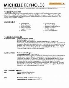 dental assistant resume template With dental assistant resume