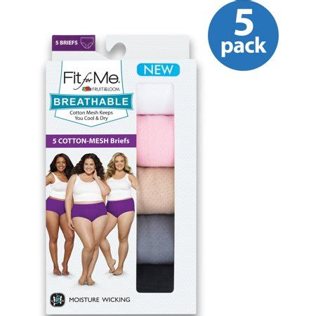 fit    fruit   loom breathable cotton briefs  pack  size panties walmartcom