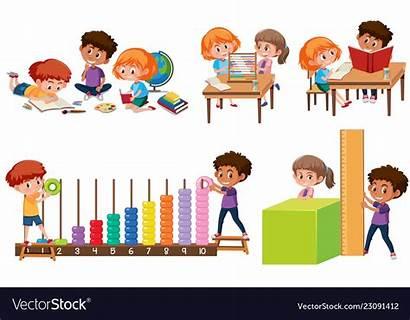 Math Learning Children Vector Vectorstock Royalty Vectors