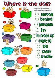 Where U0026 39 S The Dog - Prepositions Of Place Worksheet