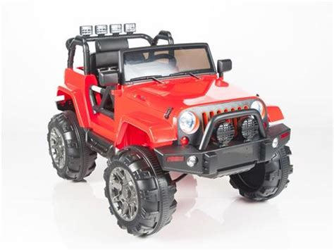 kids red jeep kids 12v power red jeep style car parental r c remote