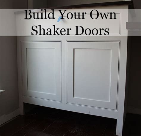 make your own kitchen cabinet doors a post and a on how to build your own shaker cabinet