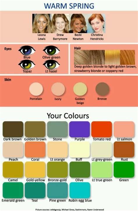 colours  spring typelight hair light eyes