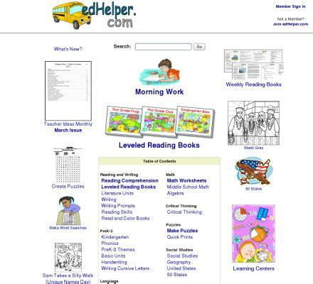 edhelpercom directory  popular lesson plans