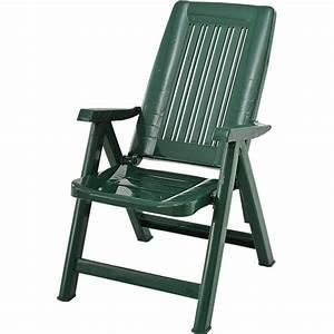 Fauteuil De Jardin Pliant : fauteuil de jardin vert multipositions en r sine trigano ~ Dailycaller-alerts.com Idées de Décoration