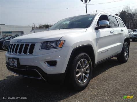 white jeep grand cherokee 2014 bright white jeep grand cherokee limited 4x4