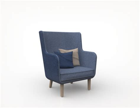 rockwell unscripted high back lounge chair knoll