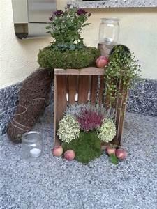 Deko Mit Holzkisten : herbst deko vor der haust r herbstdeko herbstdeko herbst dekoration und garten deko ~ Watch28wear.com Haus und Dekorationen