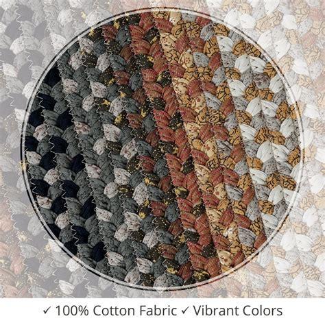buy cocoa bean black grey cotton braided rugs  homespice