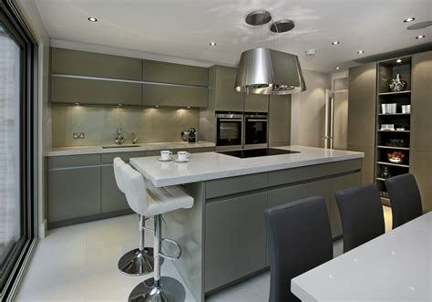 Ideas For Narrow Kitchens - leicht kitchens designer showroom fulham london elan kitchens