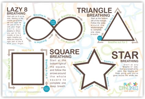 collage   original deep breathing shapes poster