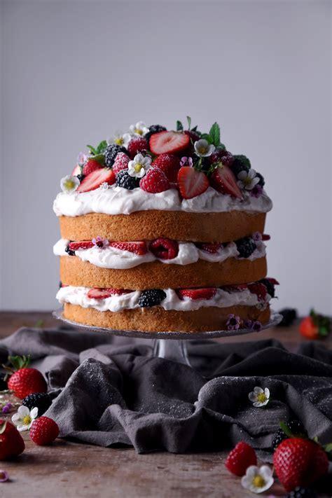 vegan vanilla cake  strawberry buttercream wife mama