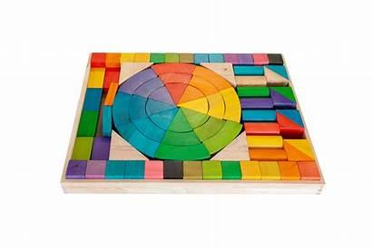 Blocks Rainbow Jumbo Wooden Preschool Play Wishlist