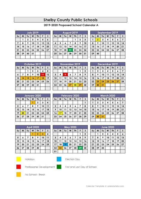 shelby county high school calendar