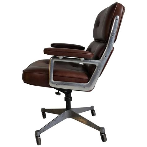 classic charles eames soft pad leather and aluminun desk