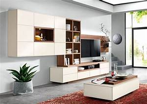 Möbel As Wohnwand : wohnwand elegance wei nussbaum ~ Watch28wear.com Haus und Dekorationen