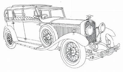 Coloring Cars Classic Kolorowanki Samochody Printable Dla