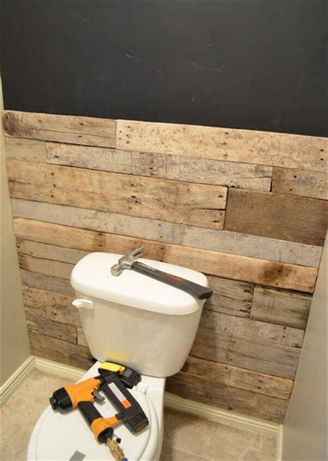 diy tutorial pallet bathroom wall  pallets