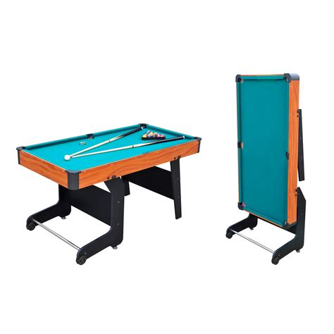 5 foot pool table 5ft folding pool table viavito pt100x 5ft folding pool