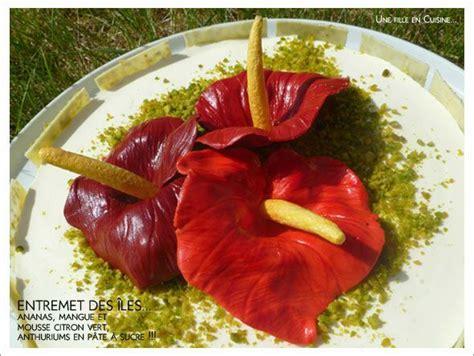 entremet des iles et premi 232 res fleurs en p 226 te 224 sucre une fille en cuisine le