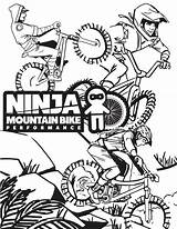 Coloring Mtb Mountain Bike Ninja Downhill Covid Keep Mix Inspiration Performance Singletracks sketch template