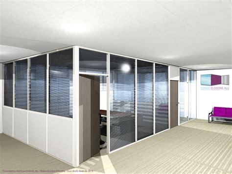 d駑駭agement bureau types de configuration en vue 3d espace cloisons alu ile