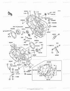 Kawasaki Motorcycle 1998 Oem Parts Diagram For Crankcase