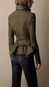 Burberry Peplum Jacket
