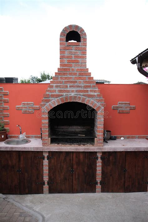 outdoor brick fireplace plans a brick garden barbecue stock photo image 51309510