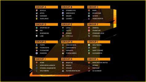 uefa europa league  draw man utd  arsenal