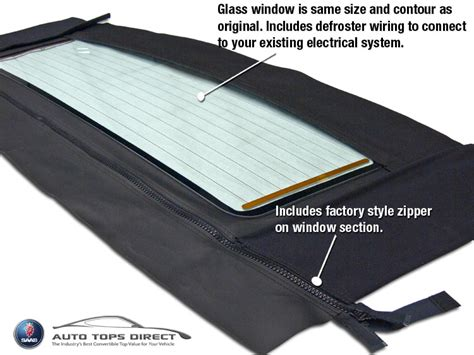 saab  convertible top window german classic black