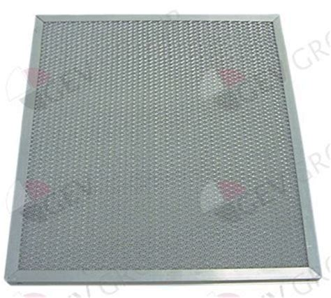 grille pour hotte de cuisine filtre pour hotte professionnelle alu 500xh400x20 mm