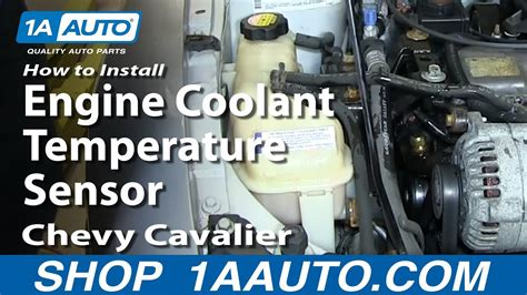 install replace engine coolant temperature sensor