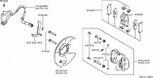 Nissan Altima Disc Brake Caliper Guide Pin Bolt  Pin Slide