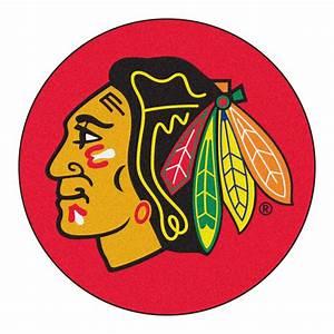 Chicago Blackhawks Logo Inspired Area Rug - Nylon