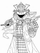 Samourai раскраски самураи распечатать Incroyable Extraordinaire Visualizar sketch template