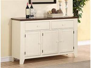 Ramona Sideboard In Antique White And Walnut Two Tone