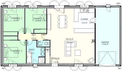 Plan Maison Plain Pied Brillant Plan Maison 120m2 Plain