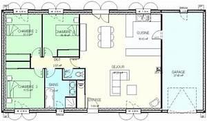 Maison 120m2 Plain Pied : plan maison plain pied 120m2 contemporaine plans cosmeticuprise ~ Melissatoandfro.com Idées de Décoration