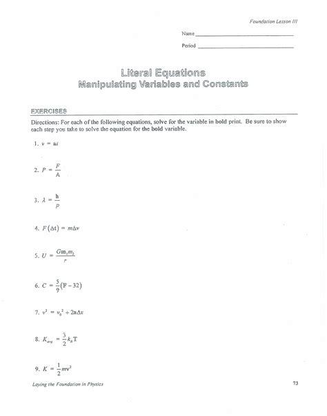 literal equations worksheet free worksheets library