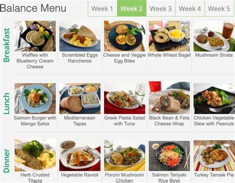 diet   menu   weeks  meals nutritional info