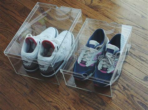 luxury clear sneaker display case shoe box  acrylic  degree view medium ebay