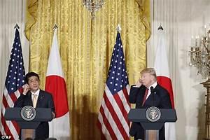 Trump's translation earpiece not on for Japan PM's speech ...