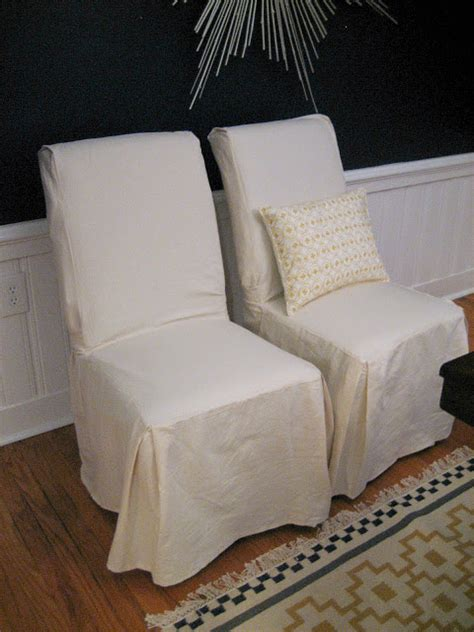 parsons chair slipcovers diy ten june dining room chairs update