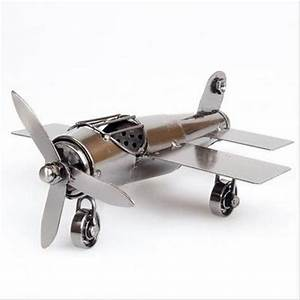 Metal Airplane Models Retro Aircraft Flying Glider Plane