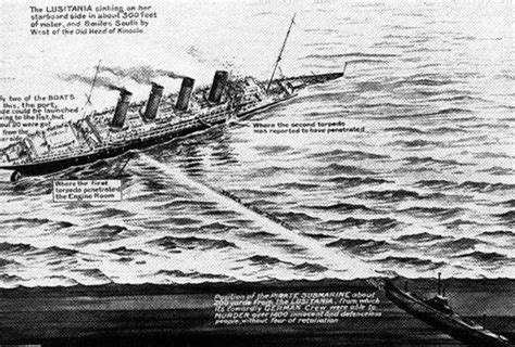 Wwi Ship Diagram by Diagram Showing How The German U Boat Hit The Lusitania